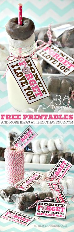 Mason Jar Valentine Gifts and Crafts | DIY Ideas for Valentines Day for Cute Gift Giving and Decor | Donut Forget Mason Jar Gift Perfect for Valentines | http://diyjoy.com/mason-jar-valentine-crafts