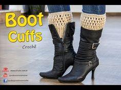 Boot Cuffs de Crochê - Com tabela de Tamanhos- P, M e G - Professora Simone - YouTube