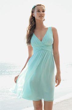 Turquoise aqua blue wedding style- bridesmaids dresses #wedding ...