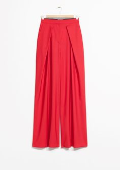 Other Stories image 1 of Wide Leg Trousers in Red