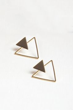 These double triangle earrings are set to be your go-to pair thanks to their day-to-night versatility. Made from a gold-tone material, they're simple yet seriously stylish. From Sienna With Love.