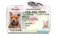 TagsForHope creates the cutest pet ID tags that keep your pets safe. Cat Id Tags, Dog Tags, Animals And Pets, Cute Animals, Animals Beautiful, Baby Animals, Reactive Dog, Dog Hotel, Puppy Treats