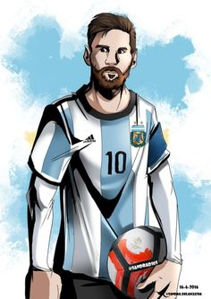 drawing of lionel messi for copa america,i whis him all the best Messi Y Neymar, Messi And Ronaldo, Messi 10, Lionel Messi Barcelona, Fc Barcelona, Lionel Messi Family, Soccer Jokes, Image Foot, Argentina National Team