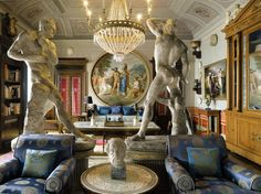 Gianni Versace's Magnificent Interior Design with spectacular integration of Greek Mythology and its Art History!! Fascinating Indeed!!
