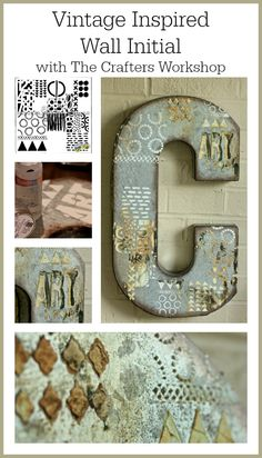 Vintage Inspired Wall Initial/Sue Carroll