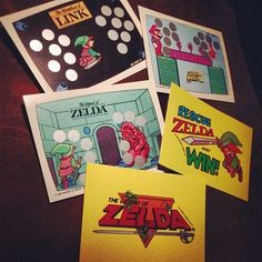 Nintendo GamePack Trading Cards | redditgifts #nintendo #retrogamer #backintheday #mario #link #zelda #fortrade