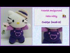 Tutorial amigurumi Hello Kitty - Cuerpo (mod-3) (English subtitles) - YouTube