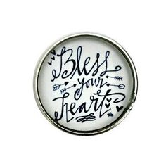 S-3138 Bless Your Heart Snap 20mm for Ginger Snap-Noosa Snap-Chunk Snap Charm Jewelry by SimpleEleganceCole on Etsy