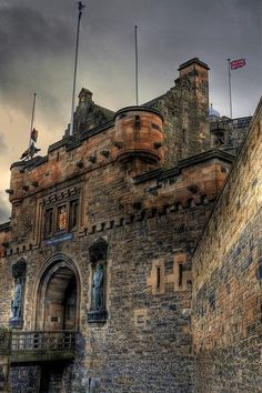 Medieval Castle, Edinburgh, Scotland. Had a chance to drink with the bobbies there. Missed it I was down to my last 30 pence and wouldn't have a way back to the ship.