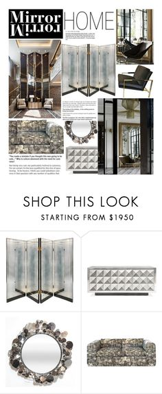 """Mirror Home"" by reddotdaily ❤ liked on Polyvore featuring interior, interiors, interior design, home, home decor, interior decorating, Steve Leung, Jonathan Adler, Kelly Wearstler and modern"