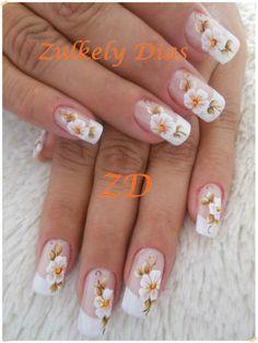 ideas for nails art sencillo brillo Gem Nails, Hair And Nails, Summer Nails 2018, Butterfly Nail Designs, French Nail Art, Bridal Nails, Fabulous Nails, Flower Nails, Cool Nail Designs