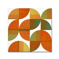 Michelle Calkins 'Four Suns Quartered 1.0' Canvas Art