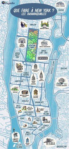 Découvertes Expedia | Guide New-York + Immanquables #USA #NewYork #NYC #Découvertes #Roadtrip #Voyage
