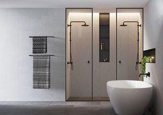 Amazing double shower in this Australian modern bathroom || interior design | home decor | contemporary | en suite | luxury | minimalist ||