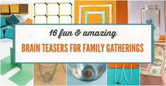 Kids will love to stump the grownups with these magic tricks and brain teasers for family gatherings and get togethers. Everyone will laugh and be amazed.