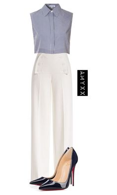 """#2641"" by nineteen92 ❤ liked on Polyvore featuring Derek Lam, Glamorous and Christian Louboutin"