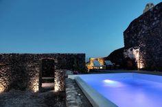 Megalochori villa rental - Volcanic pool area