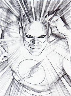 diseño de flash para mythology: the dc comics art of alex ross (2003)