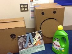 washer, dryer, and Knuffle Bunny book-Sarah Ford & Steven Downing DVISD
