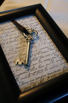 Tutorial for Beautiful Framed Key oooo put our first dance lyrics in the background! !!! Done and done!