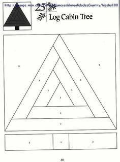 Risultati immagini per log cabin patchwork patterns Patchwork Quilting, Patchwork Log Cabin, Log Cabin Quilt Pattern, Paper Pieced Quilt Patterns, Log Cabin Quilts, Patchwork Patterns, Quilt Block Patterns, Pattern Blocks, Quilt Blocks