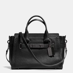 gorgeous!!! love the black with black hardwear! COACH SWAGGER CARRYALL IN NUBUCK PEBBLE LEATHER