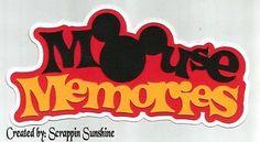 Disney Mickey Mouse Memories 1 Die Cut Paper Piece Piecing Scrapbook Page Title   eBay