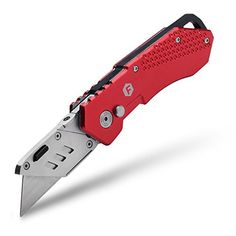 FC Folding Pocket Utility Knife - Heavy Duty Box Cutter with Holster, Quick Change Blades, Lock-Back Design, and Lightweight Aluminum Body. For product & price info go to:  https://all4hiking.com/products/fc-folding-pocket-utility-knife-heavy-duty-box-cutter-with-holster-quick-change-blades-lock-back-design-and-lightweight-aluminum-body/