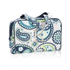 Handle-It Cosmetic Bag in Paisley Day for $30 - Look your best with a bag that does the same! You're sure to love this update to the Cosmetic Bag Set with added handles and zipper closure. Our interior elastic loops are perfect for holding bottles of lotion, shampoo or hairspray. Via @thirtyonegifts