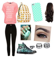 """""""Hi"""" by broolyn on Polyvore featuring Replace, River Island, Converse, Casetify and Lulu*s"""