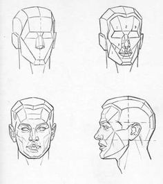 Art teachers have proposed various schemes for simplifying the head into an arrangement of flat planes. Here are two plane breakdowns by ...