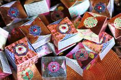 Moroccan Soap Boxes: A close-up of the Moroccan soap boxes.  Source: Lilyshop