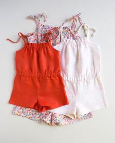 Sewing For Kids Clothes DIY summer romper for kids - free sewing pattern by purl bee Sewing Patterns For Kids, Sewing Projects For Kids, Sewing For Kids, Free Sewing, Clothing Patterns, Sewing Ideas, Sewing Tips, Sewing Designs, Sewing Crafts