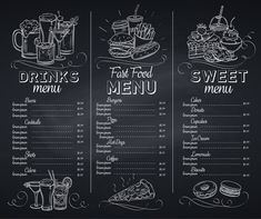 Menu Restaurant, Chalkboard Restaurant, Coffee Chalkboard, Blackboard Menu, Chalkboard Writing, Restaurant Identity, Chalkboards, Menu Board Design, Cafe Menu Design