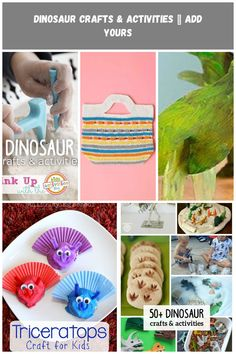 Share all of your favorite dinosaur crafts and activities for kids! dinosaur crafts Dinosaur Crafts & Activities ~ Add Yours