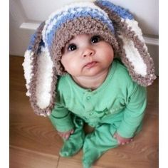 how could you ever say 'no' to those eyes and bunny ears... I so need this by like next Saturday for Zane!! lol