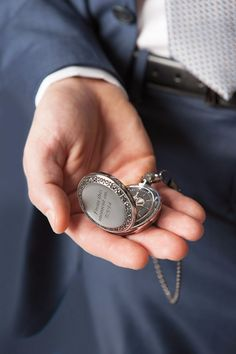A Pocket Watch: The Perfect Gift from Bride to Groom - http://www.pinkandmilk.com/wedding-ideas/a-pocket-watch-the-perfect-gift-from-bride-to-groom.html Bride, From, Gift, Groom, Perfect, Pocket, Watch