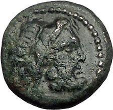 187BC Authentic Ancient Greek coin of AMPHIPOLIS MACEDONIA POSEIDON HORSE i55422