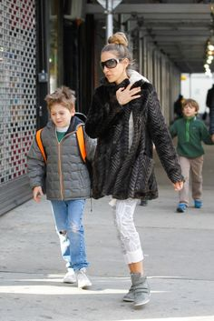 Sarah Jessica Parker enjoys her walks to school with her kids