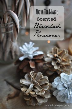 DIY Scented Bleached Pinecones: How to make your own scented bleached pinecones.