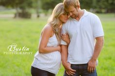 Couple Maternity photo at sunset. By TAustin Photography