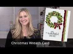 Christmas Card Video - Featuring Stampin Up Wondrous Wreath - YouTube