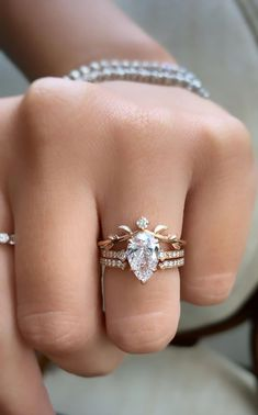 5 Ct Asscher cut /& Marquise Bezel set Floral Nature Inspired Engagement Wedding Ring Set In 925 Sterling Silver For Women