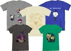 HOORAY, it's We Love Fine Wednesday!…and we LOVE our Invader Zim Contest Winners! So much that we want YOU to win one!    Repin this post before Monday and you'll be entered into a drawing to win one of these, our top five Zim winners - mens or womens' tee, your choice! Good luck!