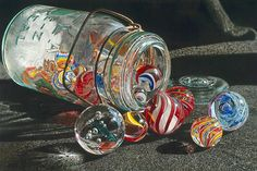 back in the olden days, we played with these things.   Marbles.  But I've lost mine.