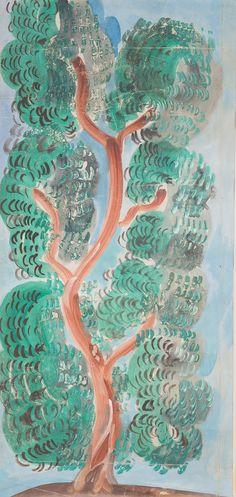 Raoul Dufy (French, 1877-1953) - Tree with flowers (Arbre en fleurs), N/D  Aquarelle