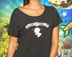 Team Daryl Vintage Black Women's Dolman T-Shirt Walking Dead Tshirt