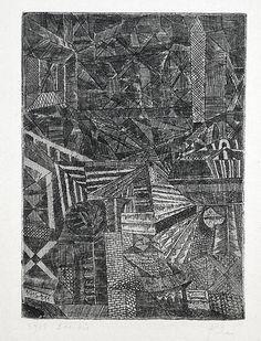 Paul Klee  'Spiegeindes Fenster' ('Reflecting Window')  1915   etching