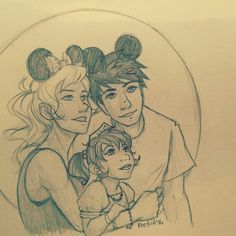 Percabeth and their daughter in Disneyland! And guess what they buy. Finding Nemo/Dory merch! xD