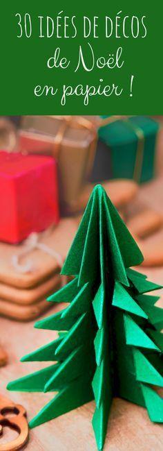 30 idées d'origami de Noël et de décorations en papier !                                                                                                                                                                                 Plus